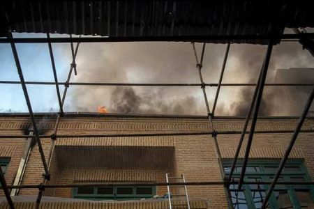 اخبار,اخبار حوادث,آتش سوزی ساختمان قدیمی