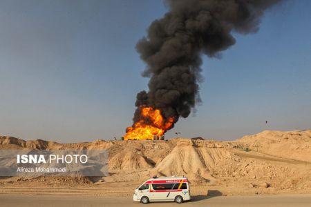 آتشسوزی چاه نفتی رگ سفید خاموش شد