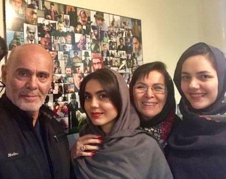اخبار,اخبارفرهنگی وهنری,اخبار,اخبارفرهنگی وهنری,آزاده زارعی و جمشید هاشم پور در کنار همسر و دخترش الناز!