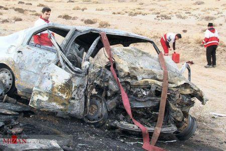 اخبار,اخبار حوادث,تصادف شدید وانت نیسان با تندر۹۰