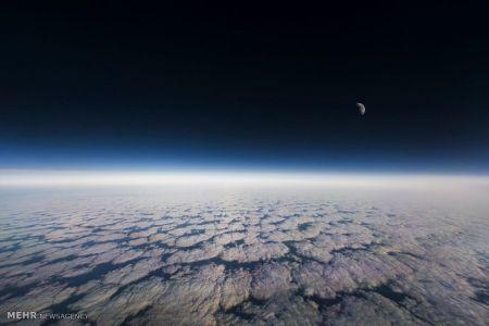 اخبار,اخبار گوناگون, آسمان شب از داخل کابین خلبان