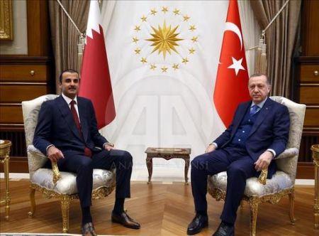 اخبارسیاسی ,خبرهای , پذیرایی اردوغان از امیر قطر