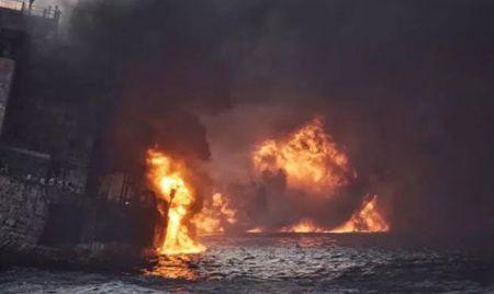 اخباراجتماعی ,خبرهای اجتماعی , آلودگی نفتی نفتکش سانچی