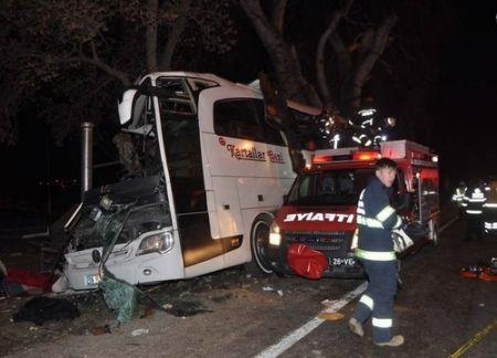 اخبارحوادث ,خبرهای حوادث , سانحه اتوبوس در مسیر آنکارا