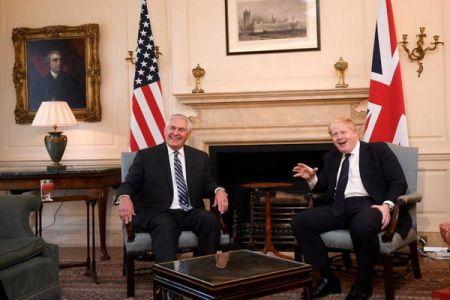 اخبار,اخبار سیاست خارجی,تیلرسون و بوریس جانسون