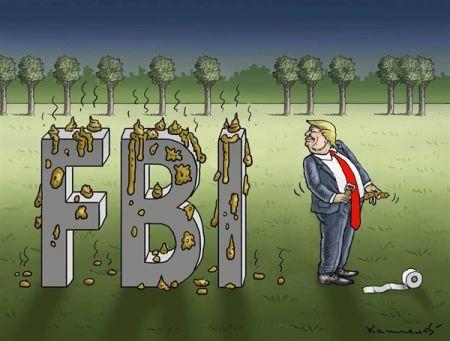 ببینید ترامپ با افبیآی چه کرد!/ کاریکاتور