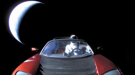 اخبار,اخبار علمی,خودروی تسلا در آسمان
