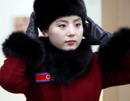 اخبار,عکس خبری, ۲۲۹ زن قرمزپوش، لیدر ورزشکاران کره شمالی در المپیک زمستانی