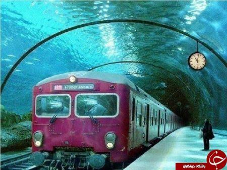 اخبار گوناگون ,خبرهای  گوناگون, ایستگاه مترویی جالب در اعماق آب