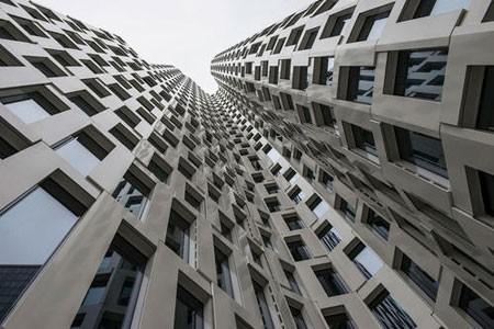 عکسهای جالب,عکسهای جذاب, نمای منحنی یک ساختمان