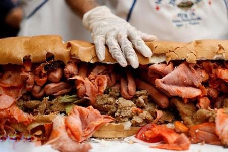 عکسهای جالب,عکسهای جذاب,بزرگترین ساندویچ