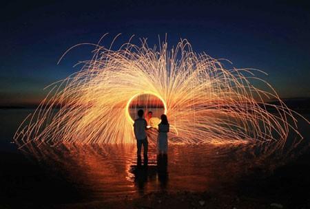 عکسهای جالب,عکسهای جذاب, آتش بازی