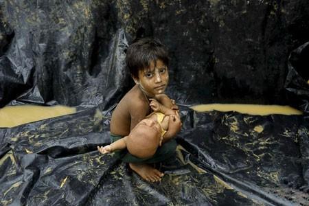 عکسهای جالب,عکسهای جذاب, کودک روهینگیایی