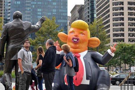 عکسهای جالب,عکسهای جذاب,آدمک ترامپ
