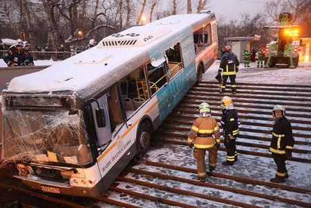 عکسهای جالب,عکسهای جذاب,منحرف شدن یک اتوبوس