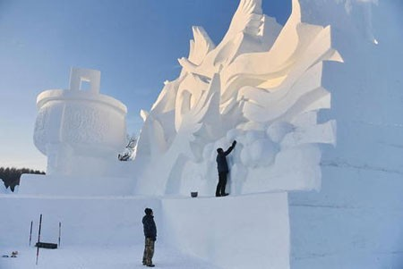 عکسهای جالب,عکسهای جذاب, سازه های برفی و یخی