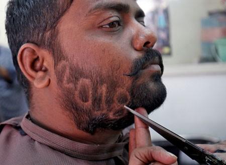عکسهای جالب,عکسهای جذاب, آرایشگاهی در هند