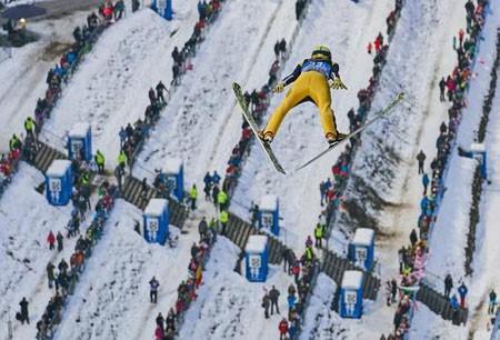 عکسهای جالب,عکسهای جذاب,مسابقات جهانی اسکی پرش