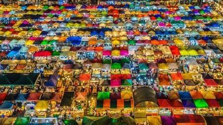 عکسهای جالب,عکسهای جذاب,بازار شبانه بزرگ