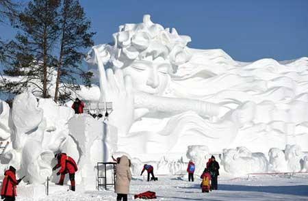 عکسهای جالب,عکسهای جذاب,سازههای برفی و یخی