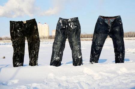 عکسهای جالب,عکسهای جذاب,شلوارهای منجمد یخزده