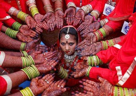 عکسهای جالب,عکسهای جذاب,عروسی دسته جمعی