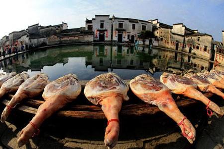 عکسهای جالب,عکسهای جذاب,خشک کردن ران خوک