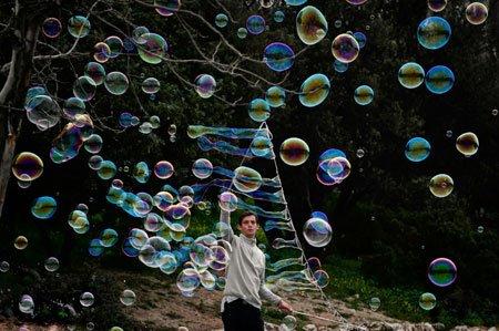 عکسهای جالب,عکسهای جذاب,حباب بازی