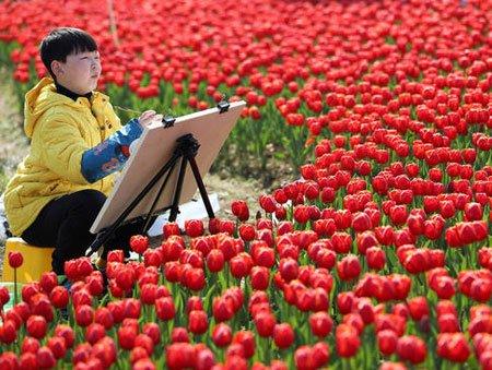 عکسهای جالب,عکسهای جذاب,نقاشی یک نوجوان چین