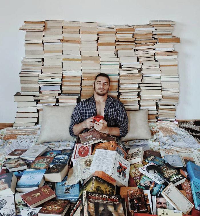 اخبار,اخبارگوناگون, یک مرد عاشق کتاب