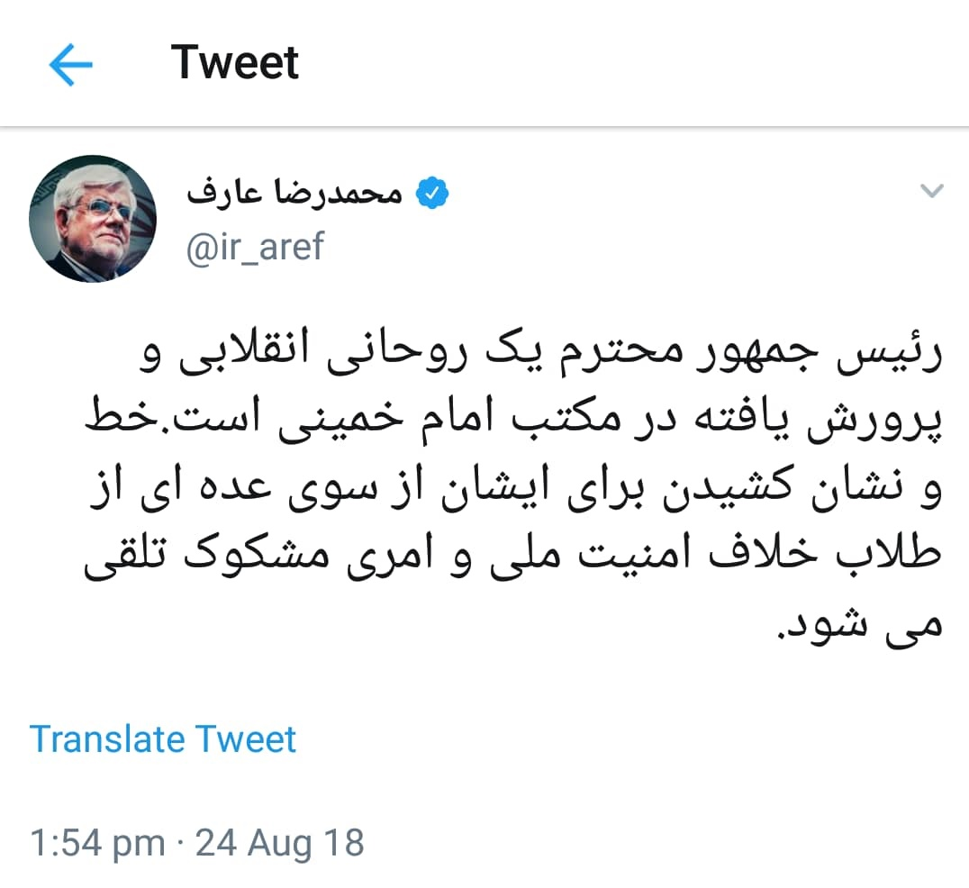 اخبار,اخبار سیاسی,محمدرضا عارف