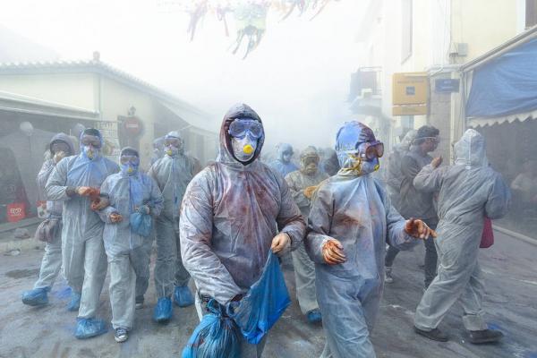اخبار,عکس خبری, جنگ آرد در یونان