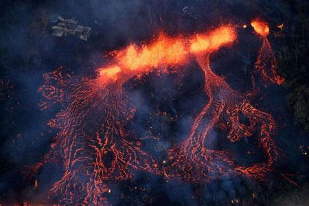 عکسهای جالب,عکسهای جذاب,گدازه های آتشفشان