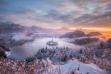 عکسهای جالب,عکسهای جذاب,برف در دریاچه