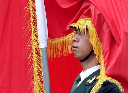 عکسهای جالب,عکسهای جذاب ,سرباز گارد تشریفات چین