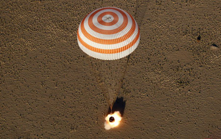 عکسهای جالب,عکسهای جذاب, کپسول حامل فضانوردان