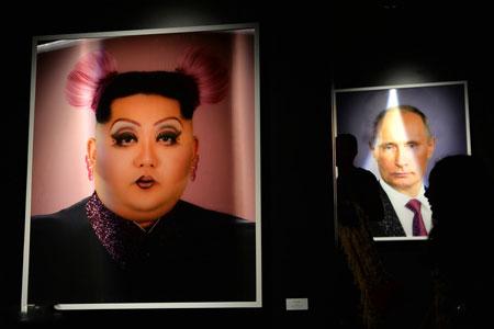عکسهای جالب,عکسهای جذاب,نقاشی کیم جونگ اون