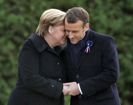 عکسهای جالب,عکسهای جذاب,رهبران آلمان و فرانسه