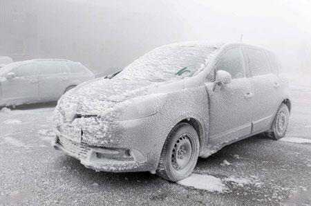 عکسهای جالب,عکسهای جذاب, ماشین یخ زده