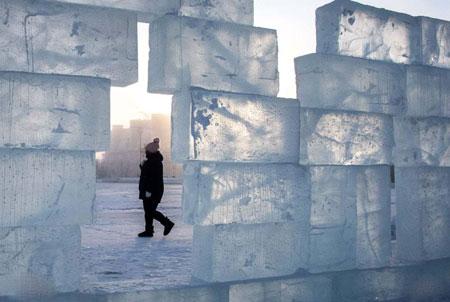 عکسهای جالب,عکسهای جذاب,دیوار یخی