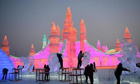 عکسهای جالب,عکسهای جذاب,ساخت سازههای برفی