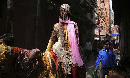 عکسهای جالب,عکسهای جذاب ,داماد هندی