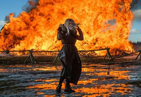 عکسهای جالب,عکسهای جذاب, قلعه در آتش