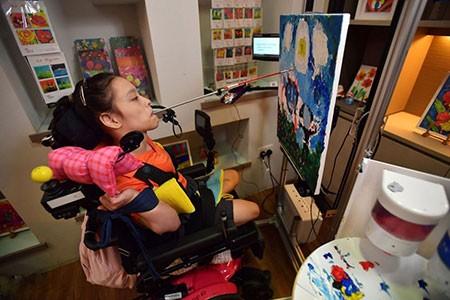 عکسهای جالب,عکسهای جذاب, دختر معلول