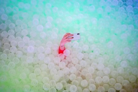 عکسهای جالب,عکسهای جذاب,استخر حباب