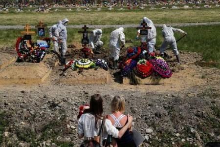 عکسهای جالب,عکسهای جذاب,دفن فوتیهای کرونا