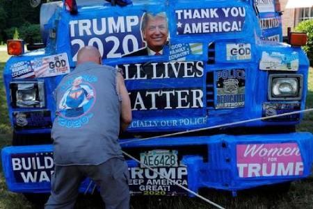 عکسهای جالب,عکسهای جذاب,حامیان ترامپ