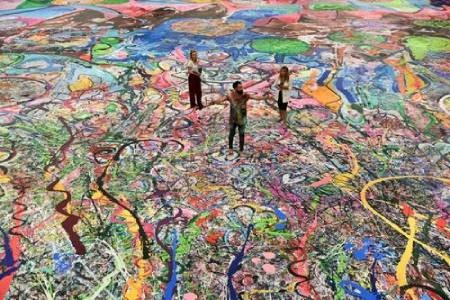عکسهای جالب,عکسهای جذاب, بزرگترین نقاشی بوم