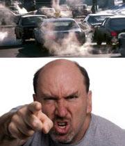 آلودگی هوا و عصبانیت