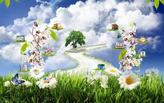 بهشت,تصویر بهشت,بهشت چگونه جایی است